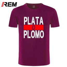 $enCountryForm.capitalKeyWord Canada - REM Summer New Brand Clothing Plata O Plomo T shirts Men Narcos Pablo Escobar Silver or Lead T-shirt Cotton Hip Hop O Neck Tees