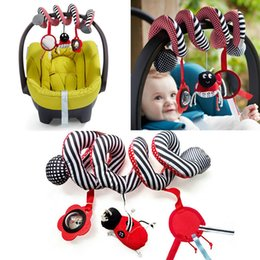 Wholesale Baby Play Activity Spiral Stroller Toy Children Stroller Accessories Kids Hanging Bell Crib Rattles Brinquedos s