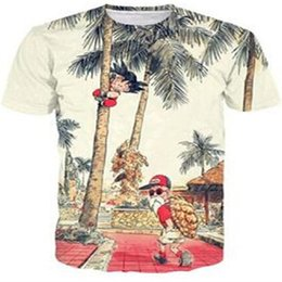 shorts men styles UK - Wholesale Free Shipping Transfer Print 3D Women Men Vintage style Tree Scenery Flower round collar Pullover Tshirt Top