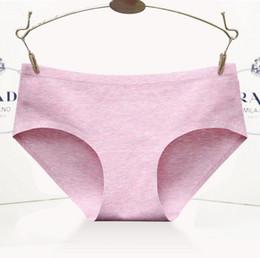 Natural Cotton Underwear Canada - Seamless Panties Cotton High Quality Summer 2018 Brief Women Elastic Heathy Underwear Girls Natural Color Lady Underwear Cotton