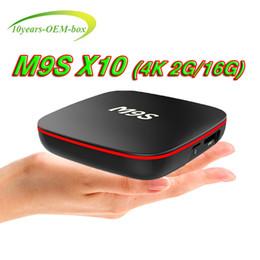 $enCountryForm.capitalKeyWord NZ - Factory M9S X10 TV BOX Android 7.1 Quad Core Rockchip RK3229 Internet 4K 1GB 8GB WiFi 4K 3D Google Media Player 2GB 16GB Bluetooth