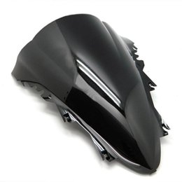Discount r1 windscreen - ALLGT Smoke Motorcycle Tinted Windshield Windscreen for Yamaha YZF R1 07 08 Black 2007 2008