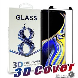 BuBBles case online shopping - Case Friendly For Samsung Galaxy S9 S8 For Iphone X glass Bubble Free Ultra Clear Full Coverage Glass Screen Protector For Note S7 edge
