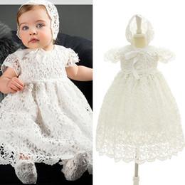 4f0910fbce6 2018 baby girls christening gown dress toddler Dresses lace white infant  Princess Dresses Newborn wedding dress Kids clothes C4725