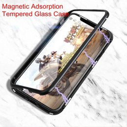 $enCountryForm.capitalKeyWord NZ - 2018 New Magnetic Adsorption Tempered Glass Back Case Panel Phone Cover Phone Case With Metal Frame For iPhone X iPhone 8 7 6