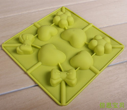 Discount chocolate panning - Wholesale-Lollipop style Pipa sugar shape biscuit pan chocolate ice cube tray ice popsicle silica gel mould