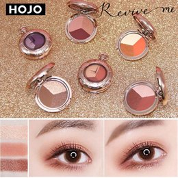 watches glitter Canada - HOJO 3 Colors Pocket Watch Matte Glitter Eyeshadow Palette Set Makeup Eye Shadow Powder Pallete Make Up Pigment Beauty