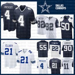 a11517734 Best SALE 21 Ezekiel Elliott 4 Dak Prescott 55 Leighton Vander Esch 22  Emmitt Smith Dallas Cowboys Jersey 50 Sean Lee 82 Witte 90 Lawrence
