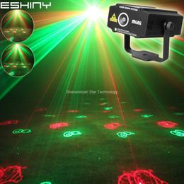 Ingrosso ESHINY MINI RG Laser Xmas 3 Patterns Proiettore DJ Dance Disco Bar Vacanza Festa di famiglia Natale Stage Effect Light Show t133