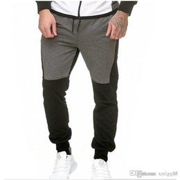 pencil cake 2018 - Plush tethered casual pants fashion Color matching fitness pants Men's casual sweatpants sell like hot cakes new st