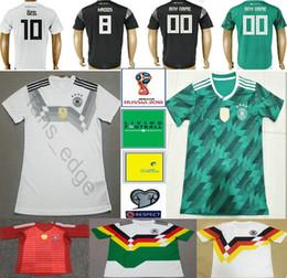 435f903bb 2018 World Cup National Germany Football Jersey Muller Gotze Reus Kroos  Draxler Neuer Ozil Boateng Custom Black White Green Soccer Shirt