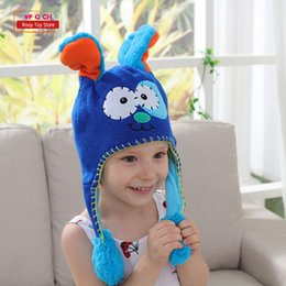445c73d06b6 Earflap Flipeezd Magic Baby Hat Toys For Kids Animal Monster Action Bonnet  Elf Infant Funny Toy Hats Children Christmas Gift