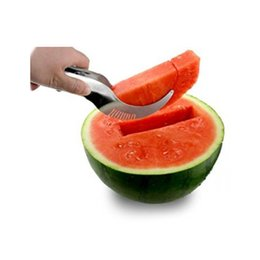 $enCountryForm.capitalKeyWord UK - 1pc Watermelon slicer cutter server corer scoop Kitchen Utensils Slices Fruit knife Stainless steel Watermelon Corner and server
