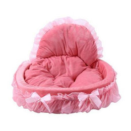 $enCountryForm.capitalKeyWord Australia - Hot sales Breathable Pet Dog Bed House Washable Bow Lace Princess Dog Cat Bed Kennel Nest Dog Houses & Kennels Accessories