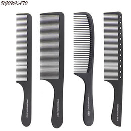 Cutting styles for hair online shopping - Professional Hair Comb Hard Carbon Flat Head Antistatic Cutting Combs for Salon Styling Sectioning Haircut Tool Full Style