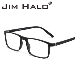 6c0771f49e Jim Halo Retro Optical TR Frame Lightweight Spring Hinge Non-Prescription  Clear Lens Glasses Men Women Eyeglasses