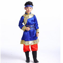 Ethnic Chinese Costume UK - New children's dance costume Mongolian ethnic Tibetan clothing girls dance skirt Chinese minority clothing stage performance