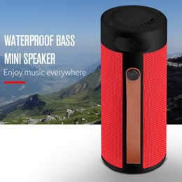 Subwoofer uSb input online shopping - T4 Outdoor Portable Bluetooth Speaker Stereo Wireless Speaker With HD Audio and Enhanced Bass Support TF USB Input For Smart Phone