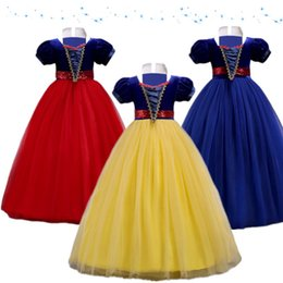 Discount girls dress 16 years - Summer Girls Dress 5-16 Years Old Girls Clothes Children Party Toddler Dresses For Girl Snow White Princess Dress Costum