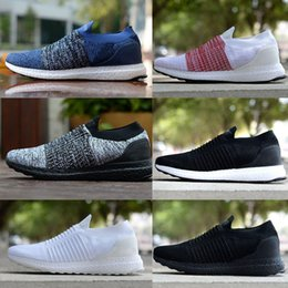 acb4847bc4883 Uncaged Laceless 4.0 5.0 UB Knit Slip On UltraBoost Men women Sports  designer shoes UB Triple White Black pink Running shoes Sneakers 36-45
