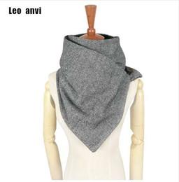Cotton Scarves Chevron Australia - Leo anvi designer fashion winter scarf men wool cotton unisex Herringbone chevron ring scarf women wrap handmade Infinity scarf