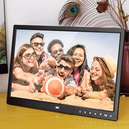 multi video card 2019 - Digital Photo Frame Electronic Album 15 Inches 1280*800 Front Touch Buttons Multi-language LED Screen Pictures Music Vid