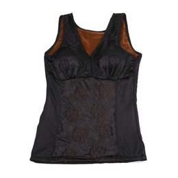 2fd30f05d9d47 Wholesale- Women Shapers Winter Velvet Thickening Warm Vest Primer V Collar  Lace Side Body Shaping Ladies Underwear Beauty Care