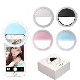 Portable Universal Selfie Ring Light LED Flash Make Up Selfie Camera Fotografía Ring de teléfono para todos los teléfonos
