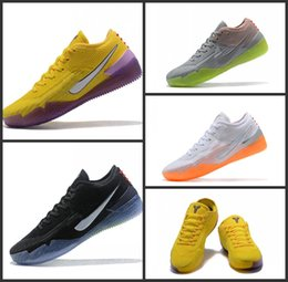 Discount men's kobe shoes NEW Kobe AD NXT 360 MultiColor Yellow Strike Orange Basketball Shoes Cheap top quality Mens Trainers Wolf Grey Purple Sn