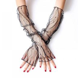 $enCountryForm.capitalKeyWord Australia - Ladies Net Women Short Accessories White Lace Gloves Gloves Sleeves Sleeve Fashion Wrist Length Romantic Sunscreen Fish
