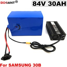Motor Bicycles Australia - 84V 30AH for Bafang BBSHD 2000W Motor E-bike Lithium Battery pack 18650 cell 23S 84V Electric Bicycle Battery with 5A Charger