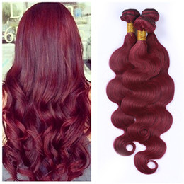 $enCountryForm.capitalKeyWord NZ - Burgundy Body Wave Human Hair Weaves 99j Hair Malasian Virgin Body Wave 3 Bundle For Black Women 99j Wine Red Bundles For Sale