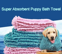 Super Absorbent Dog Towel Australia - Fibre Fast Drying Water Pet Bath Towel Super Absorbent Puppy Mat Dogs Blanket Soft Cat Bathing Practical Mould Proof Easy Clean DH0320