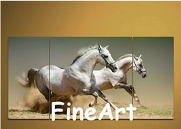 $enCountryForm.capitalKeyWord Australia - hand painted 3 panel wall art running horse oil paintings abstract canvas paintings home goods oil painting home decoration