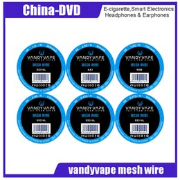 Großhandel Original vandyvape mesh draht KA1 80 mesh 2,8 ohm ft Ni80 100 mesh 200 mesh 300 mesh 400 mesh SS316L 150 mesh edelstahl draht vandy vape spule