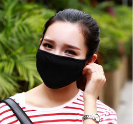 Dust Mouth Mask NZ - 2016 Hot sales 50pcs Anti-Dust Cotton Mouth Face Mask Unisex Man Woman Cycling Wearing Black Fashion High quality