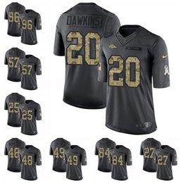 5054c0e03 Denver Black 2016 Salute to Service 58 Von Miller 7 John Elway 10 Emmanuel  Sanders 18 Peyton Manning Broncos 11 football jerseys 3