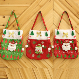 best christmas candy NZ - Christmas Gift Creative Best Poster Tote Bag Candy Bag Christmas Cloth Red Gift Bag