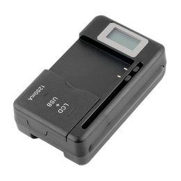 Ingrosso Freeshipping Nuovo Mobile Universale Caricabatteria LCD Indicatore schermo per telefoni cellulari Porta USB Calda promozione all'ingrosso