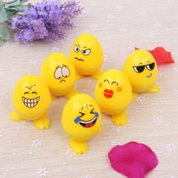 $enCountryForm.capitalKeyWord Australia - 6pcs Set Kids Egg Smile Emoji Smiling cartoon self inking stamp set gift for kids scrapbooking DIY decoration