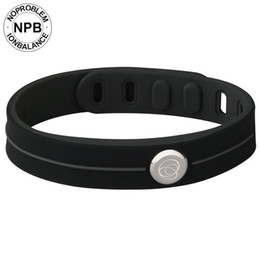 Ion sIlIcone online shopping - Noproblem Therapy Waterproof Bands Choker Ion Balance Charm Germanium Tourmaline Power Hologram Silicone Bracelet L18101305