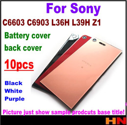 L36h Housing Australia - 10pcs Battery Back Cover Housing for Sony Xperia c6603 C6903 L36H L39H Z1 Back Battery Door With Tracking White Black Purple