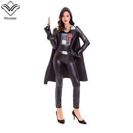 Sexy Women Cosplay Future Warrior Clothes Halloween Shows Black Long Sleeve Costume Cotton Cloak Jumpsuit Glove for Women  sc 1 st  DHgate.com & Women Warriors Costumes Online Shopping | Women Warriors Costumes ...