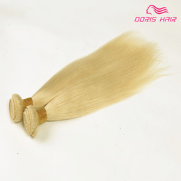 Wholesale luxury Blond color remy Hair Wefts bundles Brazilian Indian human hair weave extension silk straight free DHL