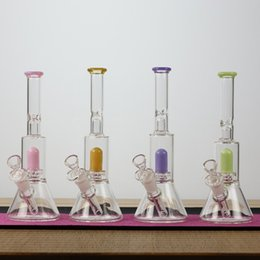 base bongs NZ - mini bottom beaker bong glass 10 inch small Base Ice water pipes 18.8mm dab oil rig bongs pipe smoking