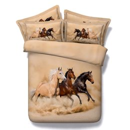 horse duvet covers NZ - 3D Printed galloping horse bedding sets animal duvet cover bedspreads comforter cover Bed Linen Quilt Covers bed cover for adults boys men