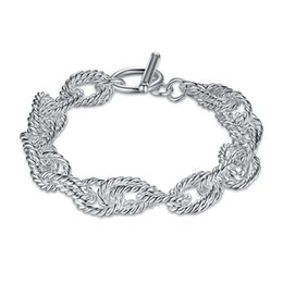 $enCountryForm.capitalKeyWord NZ - Beast gift! All torsional wave TO hand chai 925 silver bracelet JSPB318 ; New arrival girl women sterling silver plated Chain link bracelets