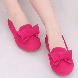 Girls Sandal Canada - Hot Sale Children Shoes Big Bow Flock Candy Colors Girls Shoes Princess Flat Slip-On Girls Sandals Single Baby Girl Shoes