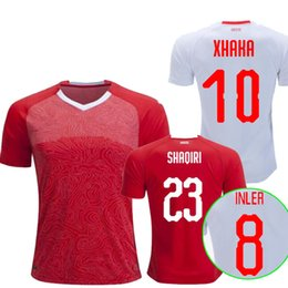0965d4979 2018 World Cup Switzerland Soccer Jersey home away Thai quality EMBOLO  XHAKA RODRIGUEZ ZAKARIA SHAQIRI national team jerseys football shirts