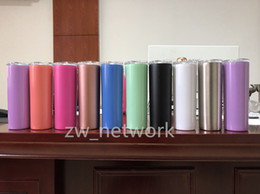 StainleSS double wall water bottle online shopping - NEW oz stainless steel skinny tumbler with lid straw oz wine tumblers mugs ml double wall vacuum insulated cup water bottle oz